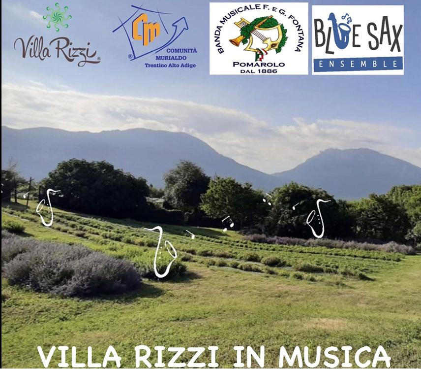 """""""VILLA RIZZI IN MUSICA"""": sabato 25 settembre vi invitiamo qui in Sardagna per una serata insieme!"""